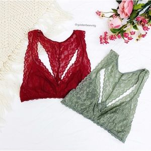 🌿Victoria's Secret Lace Racerback Bralette Bundle